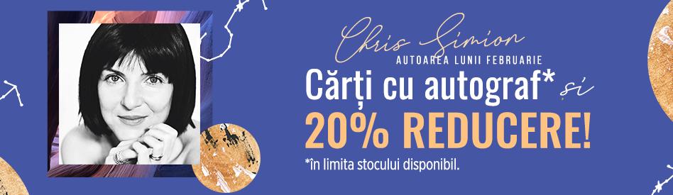 Oferta Libris: Autoarea lunii - Chris Simion - reducere 20% + autograf