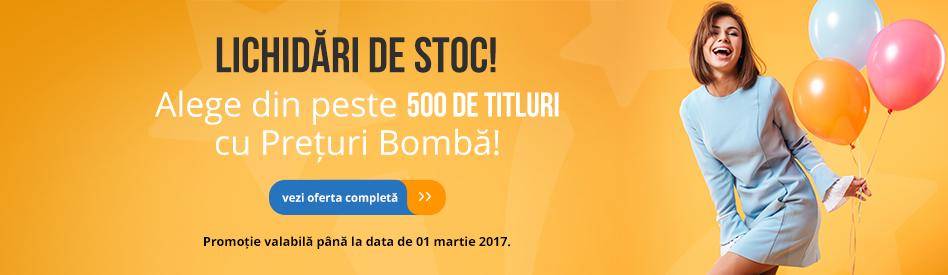 Oferta Libris: Lichidări de stoc - reduceri de 30-85%