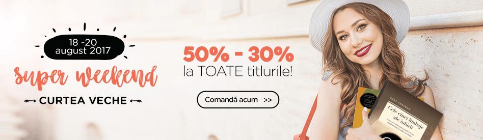 Weekend Curtea Veche la Libris - reducere de 30-50%