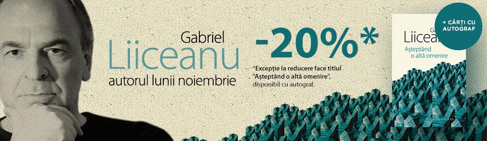 Oferta Libris: Autorul lunii - Gabriel Liiceanu - reducere 20%