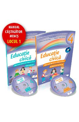 Educatie civica - Clasa 4 Sem. 1+2 - Manual + CD - Daniela Barbu