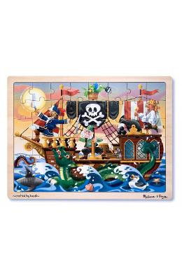 Wooden Jigsaw Puzzle  Pirate Adventure. Puzzle Lem