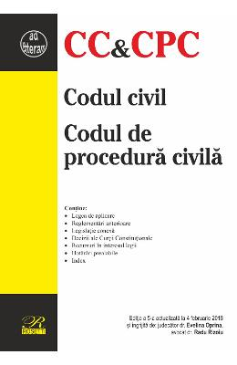 Codul civil. Codul de procedura civila Act. 4 Februarie 2018