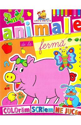Animale de la Ferma - Coloram, scriem, ne jucam