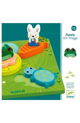 Puzzle 123 Frogy. Puzzle relief 123