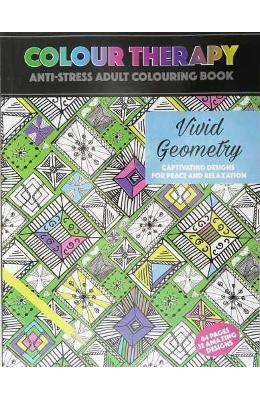 Colour Therapy, Vivid Geometry. Carte de colorat antistress, Geometrie vie