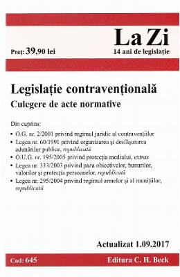 Legislatie contraventionala act. 1.09.2017