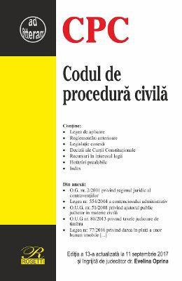 Codul de procedura civila act. 11 Septembrie 2017