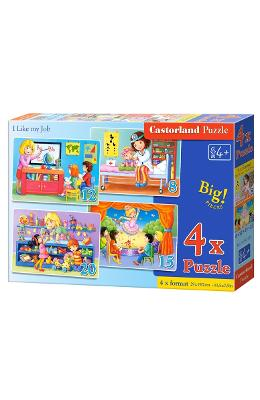 Puzzle 4 in 1. I Like my Job