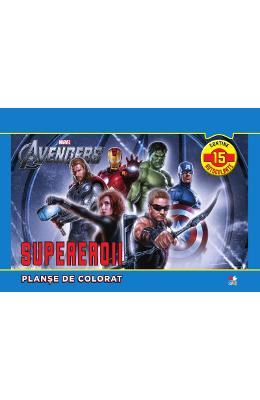 Marvel The Avengers. Supereroii - Planse de colorat