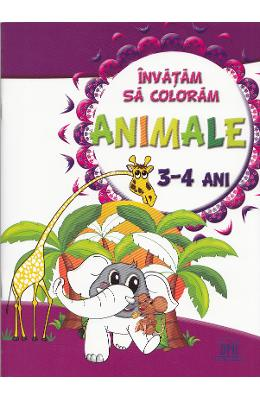 Invatam sa coloram: Animale 3-4 ani