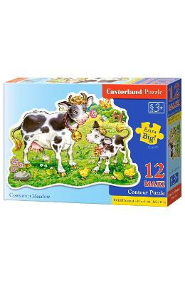 Puzzle 12 Maxi - Cows On A Meadow