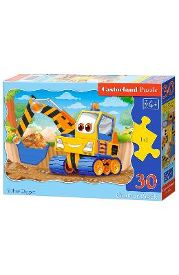 Puzzle 30 Castorland - Yellow Digger
