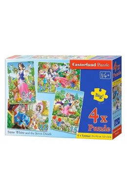 Puzzle 4 In 1 Castorland - Snow White And The Seve