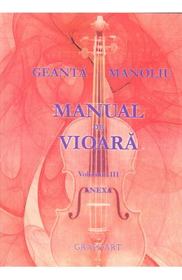 Manual de vioara vol. 3 Anexa - Geanta Manoliu