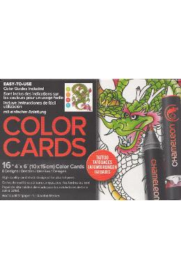 Carte de colorat - Chameleon Tattoo
