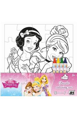 Disney Princess, Puzzle coloring set. Puzzle de colorat, Printese