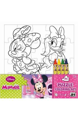 Disney Minnie, Puzzle coloring set. Puzzle de colorat