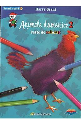Animale domestice 2 - Carte de colorat - Harry Grant