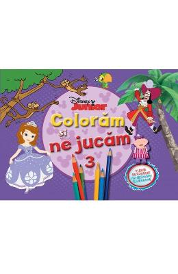 Disney Junior - Coloram si ne jucam 3. Planse de colorat cu activitati distractive