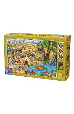 Puzzle 1000 Cartoon Collection - Distractie In Des