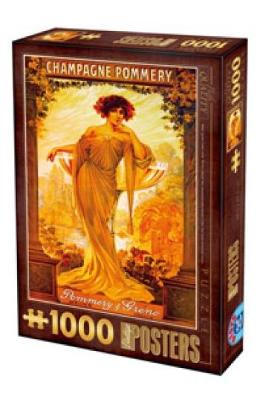 Puzzle 1000 Vintage Posters: Champagne Pommery