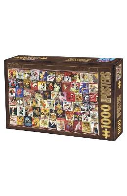 Puzzle 1000 Posteres - Vintage Posters (67555-12)