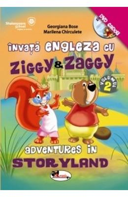 Invata engleza cu Ziggy And Zaggy. Adventures in storyland + Dvd de la libris.ro