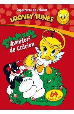 Looney Tunes - Aventuri de Craciun - Supercarte de colorat