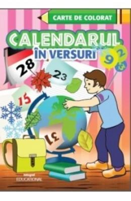 Calendarul In Versuri - Carte De Colorat