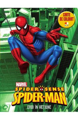 Set Spider Man - Eroi in actiune + Avengers + Stickere