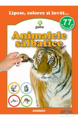 Lipesc, colorez si invat... Animale salbatice