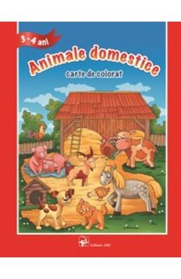 3-4 Ani - Animale domestice - Carte de colorat