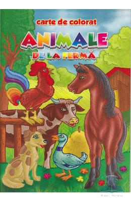 Animale de la ferma - Carte de colorat