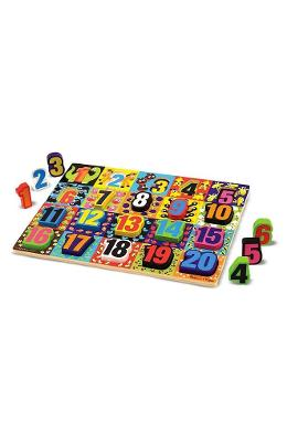 Chunky Puzzle, Numbers. Puzzle lemn in relief, Numere