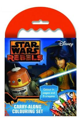 Star Wars Rebels, Carry-along colouring set. Set portabil de colorat
