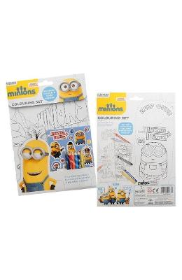 Minions, Colouring set. Set de colorat