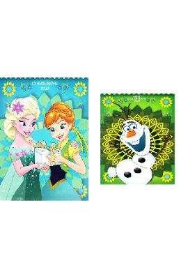 Frozen Fever. Play pack, Colouring pad. Set de joaca