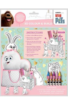 Pets, 3D colour and build. Set 3D coloreaza si construieste