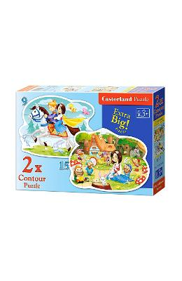 Puzzle 2 In 1 Castorland - Snow White And The Seve