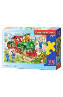 Puzzle 35 Castorland - Green Locomotive