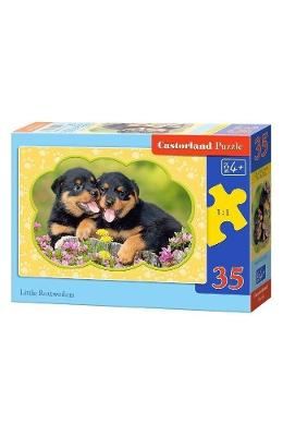 Puzzle 35 Castorland - Little Rottweilers