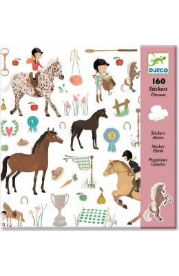 160 Stickers  Chevaux. Abtibilduri  Cai