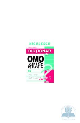 Dictionar de omografe - Petcu Abdulea