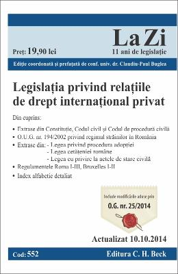 Legislatia privind relatiile de drept international privat act. 10.10.2014