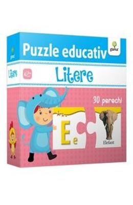 Puzzle educativ: Litere