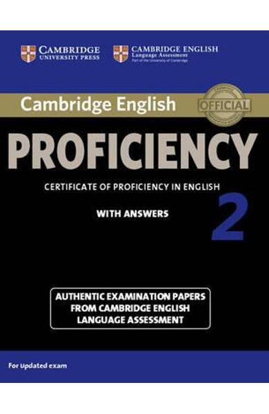 cambridge english proficiency 2 student s book with answers