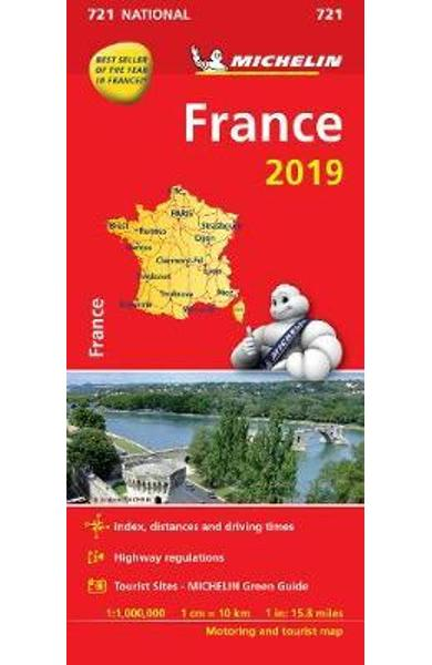 France 2019 Michelin National Map 721
