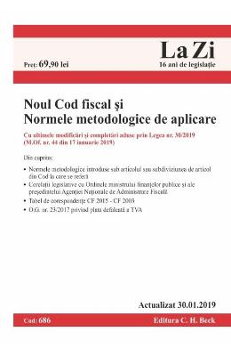 Noul Cod fiscal si Normele metodologice. Act.30 ianuarie 2019