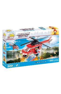 Action Town Cobi 300 Pcs - Pompieri Elicopter